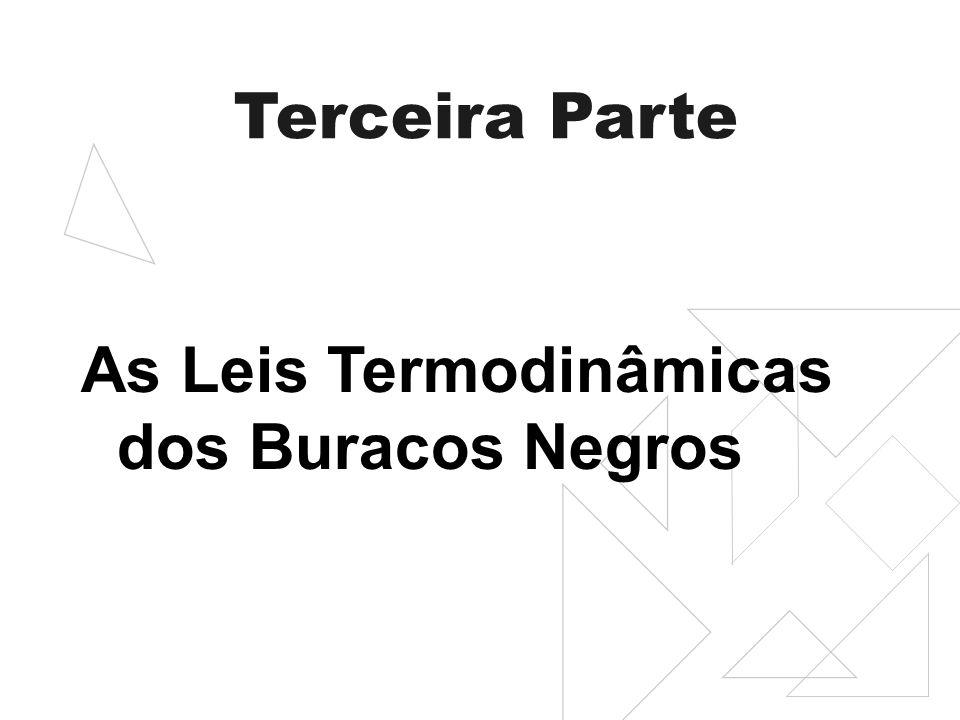 Terceira Parte As Leis Termodinâmicas dos Buracos Negros