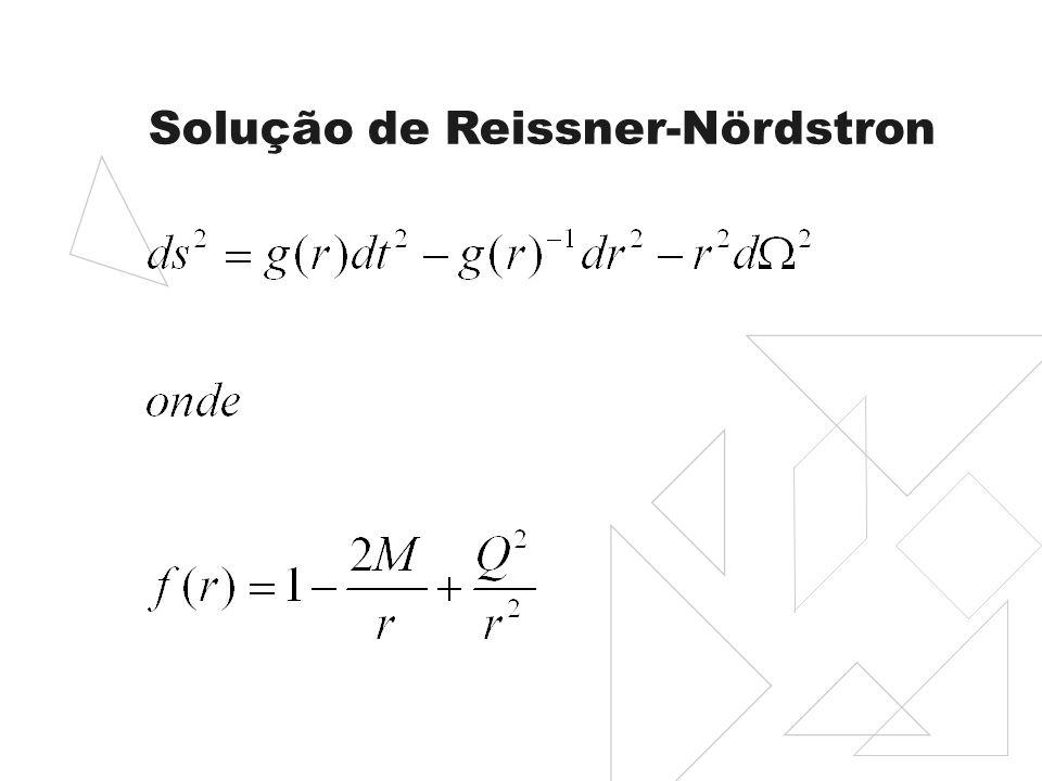 Solução de Reissner-Nördstron