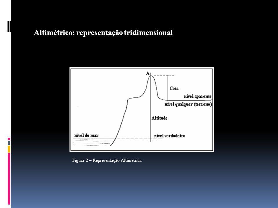 Altimétrico: representação tridimensional Figura 2 – Representação Altimetrica