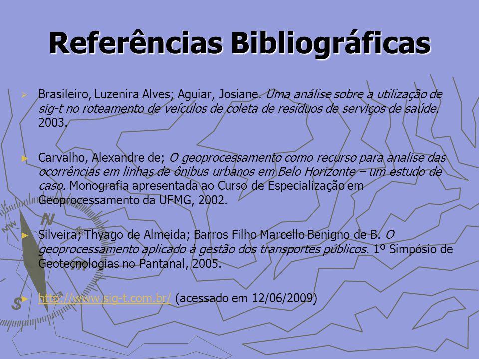 Referências Bibliográficas Brasileiro, Luzenira Alves; Aguiar, Josiane.