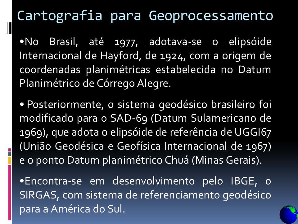 O Datum Planimétrico é definido por um conjunto de parâmetros, e é um ponto de referência para todos os levantamentos cartográficos sobre uma determin