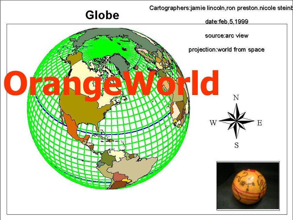 Projeções Cartográficas A elaboração de um mapa requer um método que estabeleça uma relação entre os pontos da superfície da Terra e seus corresponden