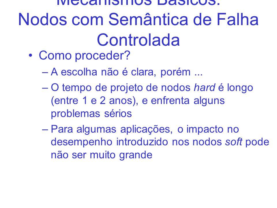 Mecanismos Básicos: Nodos com Semântica de Falha Controlada Como proceder.