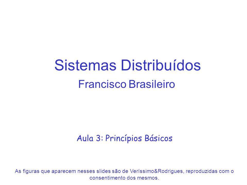 Sistemas Distribuídos Francisco Brasileiro Aula 3: Princípios Básicos As figuras que aparecem nesses slides são de Veríssimo&Rodrigues, reproduzidas c