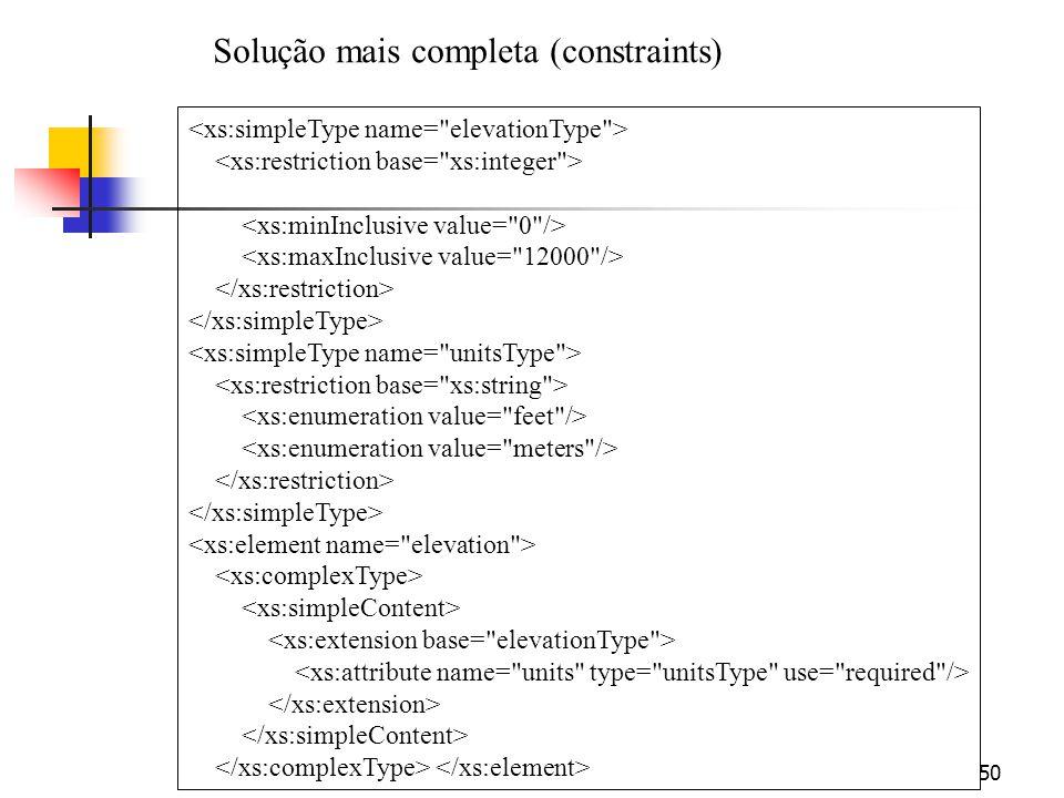 50 Solução mais completa (constraints)