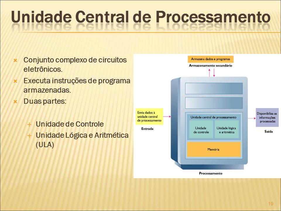 Conjunto complexo de circuitos eletrônicos.Executa instruções de programa armazenadas.