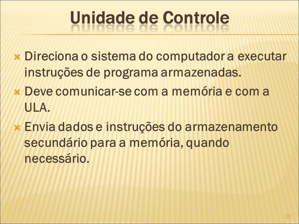 Direciona o sistema do computador a executar instruções de programa armazenadas.