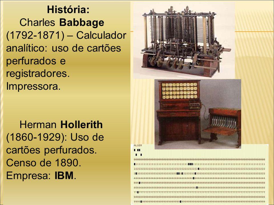 Componentes de um Sistema Computacional Software Componente lógica de um sistema de computação, i.e.
