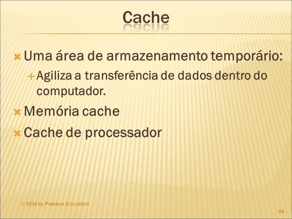 Uma área de armazenamento temporário: Agiliza a transferência de dados dentro do computador.