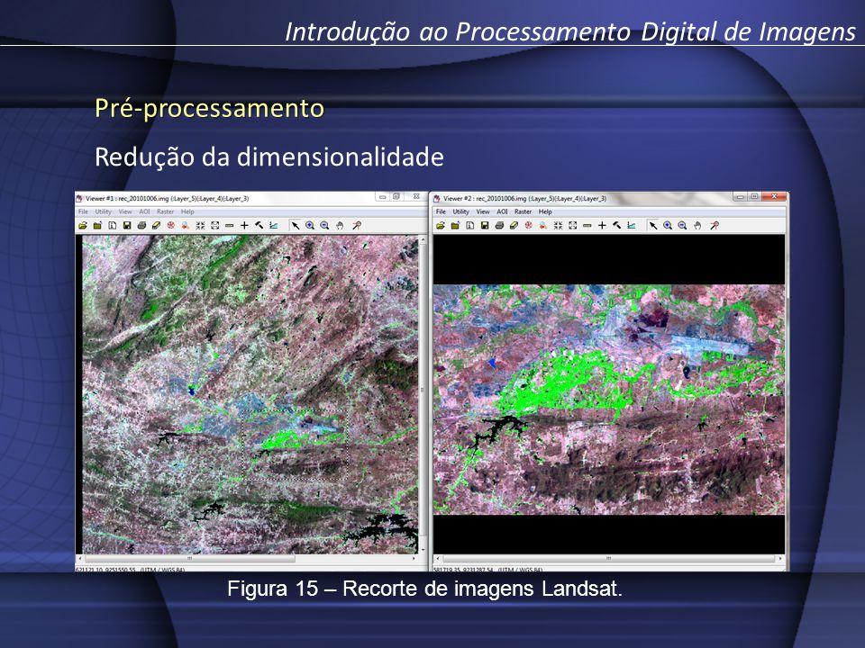 Pré-processamento Introdução ao Processamento Digital de Imagens Redução da dimensionalidade Figura 15 – Recorte de imagens Landsat.