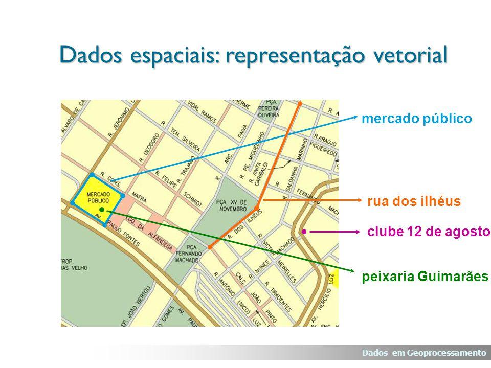 mercado público rua dos ilhéus clube 12 de agosto peixaria Guimarães Dados em Geoprocessamento Dados espaciais: representação vetorial