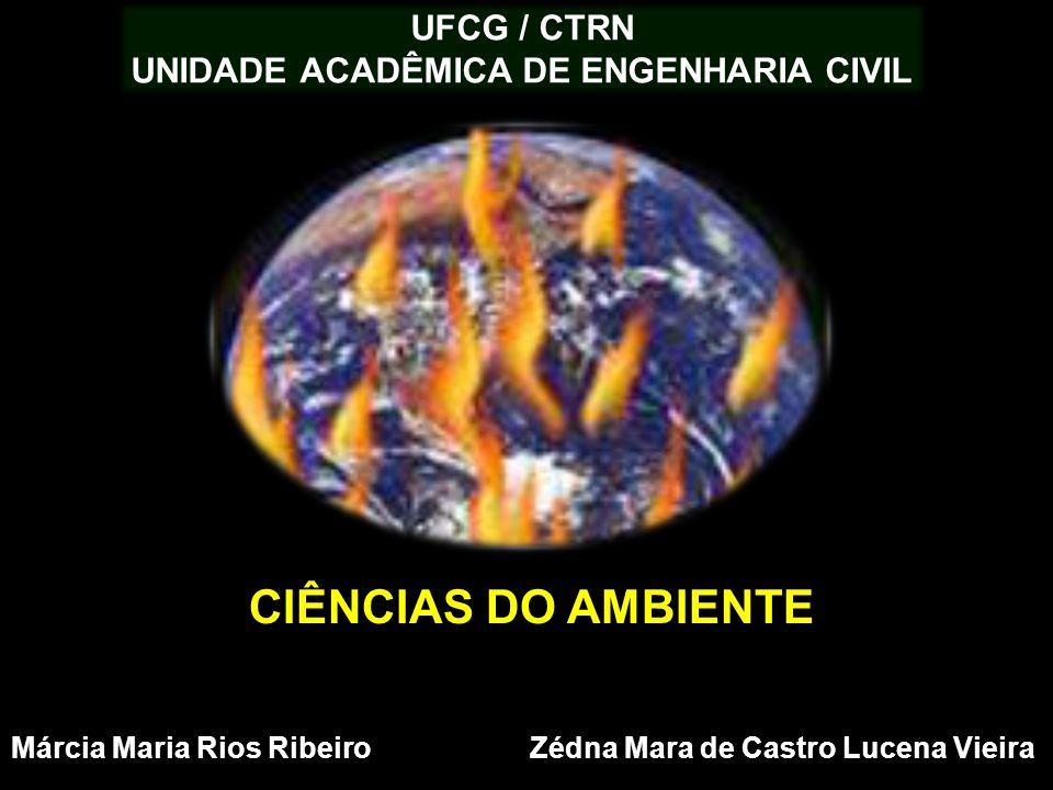 UFCG / CTRN UNIDADE ACADÊMICA DE ENGENHARIA CIVIL Márcia Maria Rios Ribeiro Zédna Mara de Castro Lucena Vieira CIÊNCIAS DO AMBIENTE