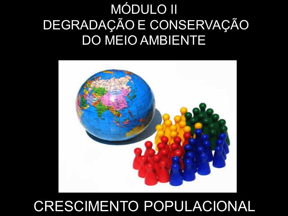 CRESCIMENTO POPULACIONAL MÓDULO II DEGRADAÇÃO E CONSERVAÇÃO DO MEIO AMBIENTE
