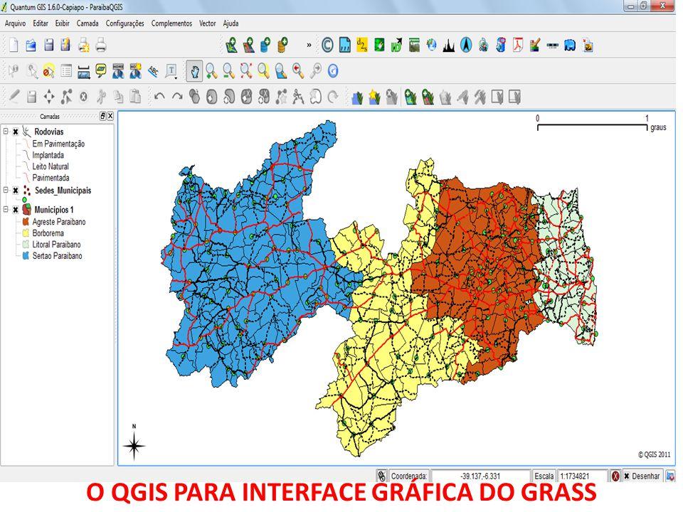 O QGIS PARA INTERFACE GRÁFICA DO GRASS