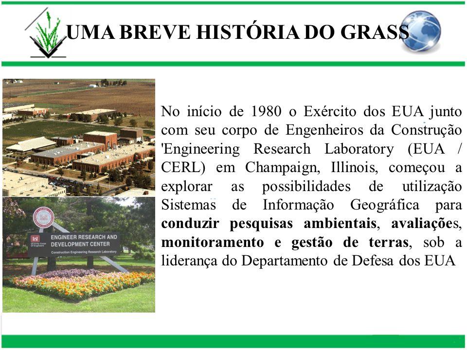 UMA BREVE HISTÓRIA DO GRASS No início de 1980 o Exército dos EUA junto com seu corpo de Engenheiros da Construção 'Engineering Research Laboratory (EU