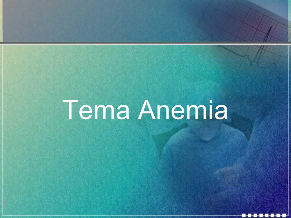 O que é anemia.A anemia é a diminuição dos níveis de hemoglobina na circulação.