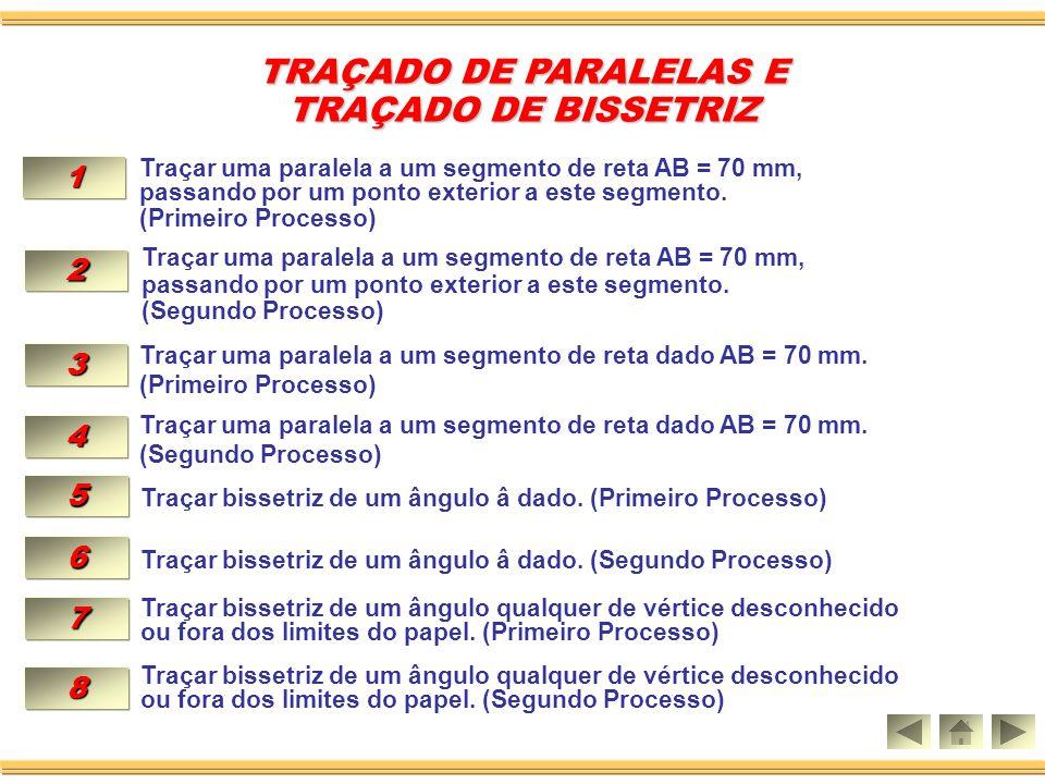 TRAÇADO DE PARALELAS E TRAÇADO DE PARALELAS E TRAÇADO DE BISSETRIZ TRAÇADO DE BISSETRIZ Aula 02
