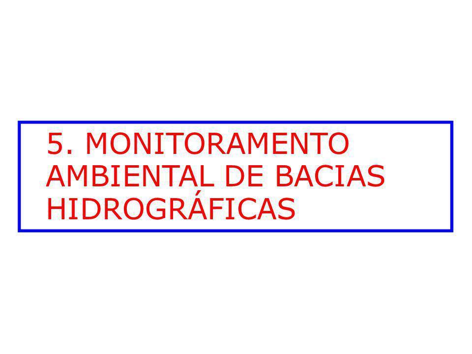 5. MONITORAMENTO AMBIENTAL DE BACIAS HIDROGRÁFICAS