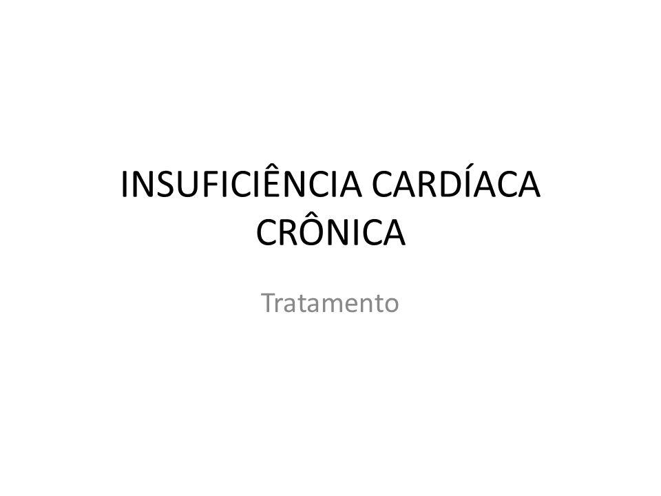INSUFICIÊNCIA CARDÍACA CRÔNICA Tratamento
