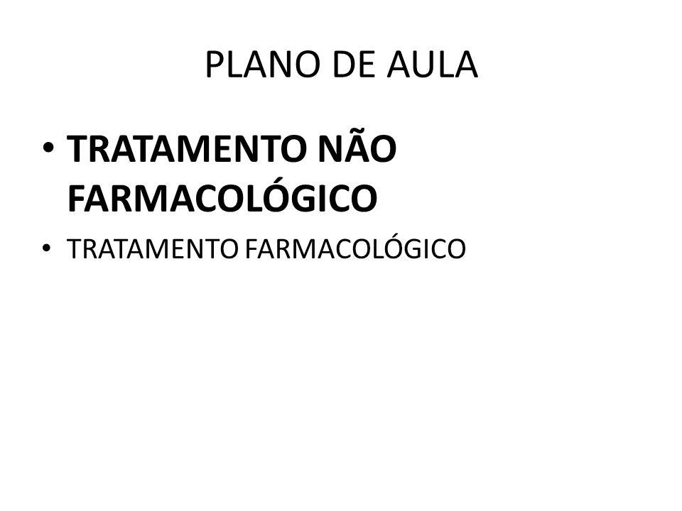PLANO DE AULA TRATAMENTO NÃO FARMACOLÓGICO TRATAMENTO FARMACOLÓGICO