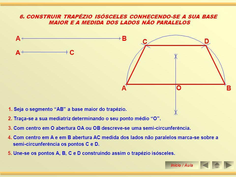 1. Seja dado o segmento de reta AB a diagonal do losango. 4. Une-se os ponto A, D, B e C, obtendo assim a construção do losango. 5. CONSTRUIR UM LOSAN