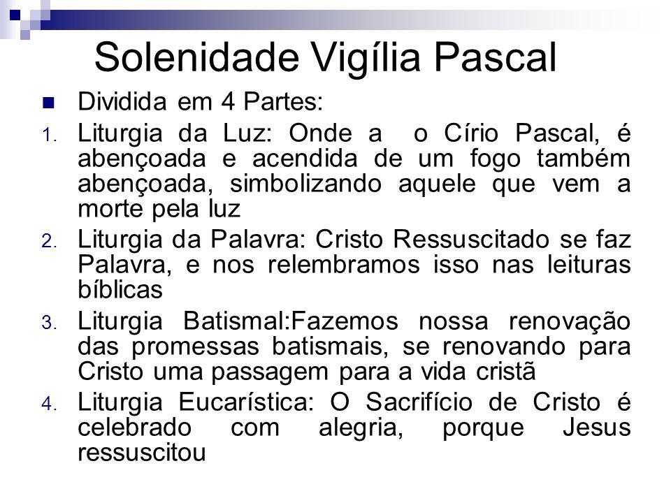 Solenidade Vigília Pascal Dividida em 4 Partes: 1.