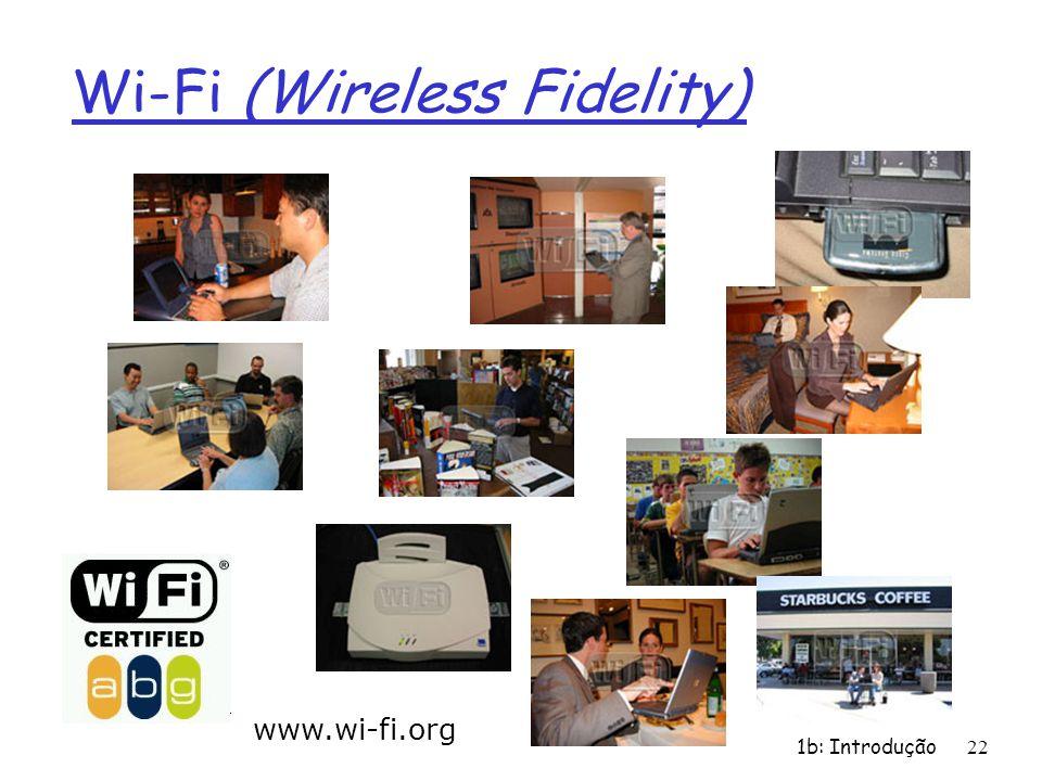 1b: Introdução22 Wi-Fi (Wireless Fidelity) www.wi-fi.org