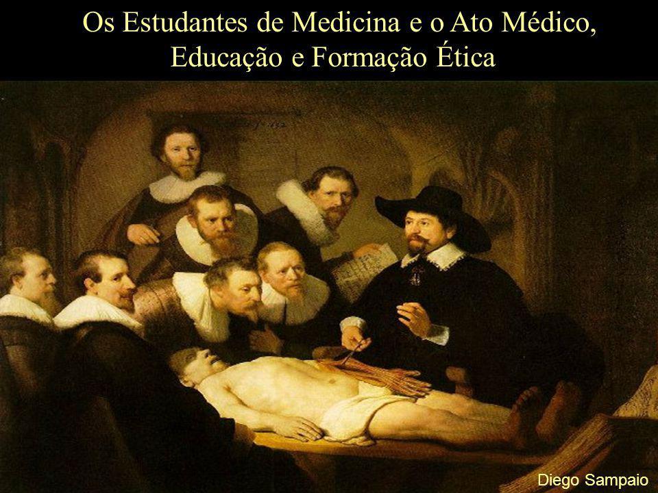 Os Estudantes de Medicina e o Ato Médico, Educação e Formação Ética Os Estudantes e seus atos; O Código de Ética do Estudante de Medicina Relação Institucional: Art.