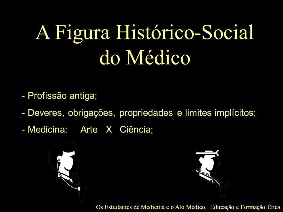 Os Estudantes de Medicina e o Ato Médico, Educação e Formação Ética Agradecimento especial: Prof.