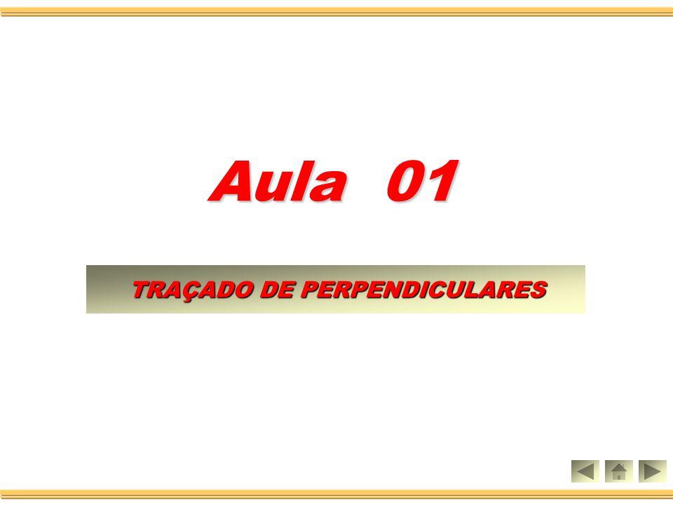 Aula 01 TRAÇADO DE PERPENDICULARES TRAÇADO DE PERPENDICULARES