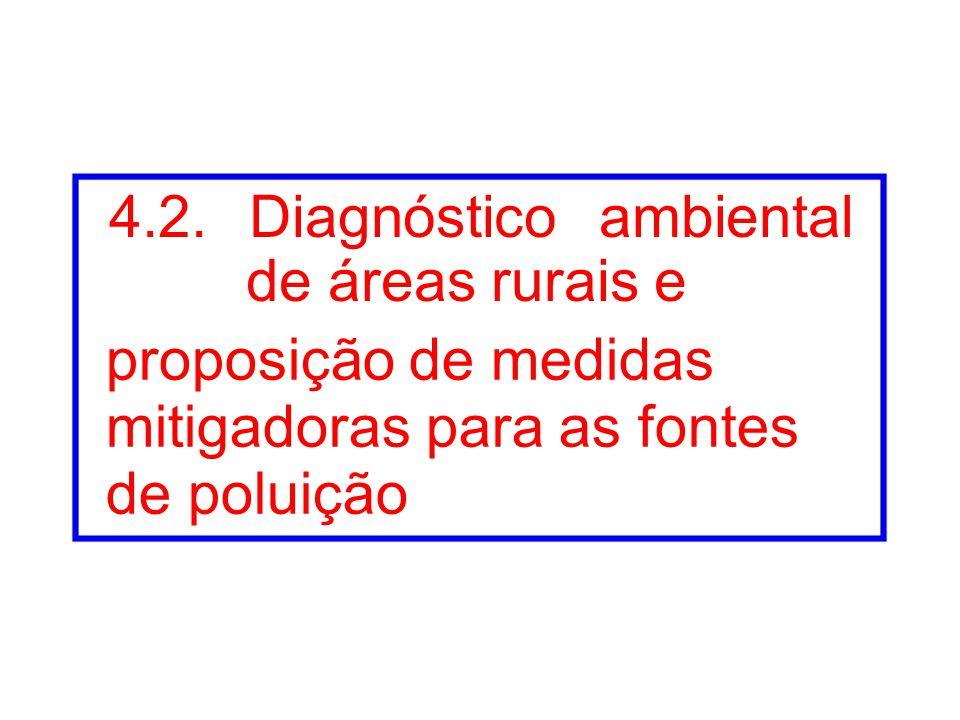 4.2. Diagnóstico ambiental de áreas rurais e proposição de medidas mitigadoras para as fontes de poluição