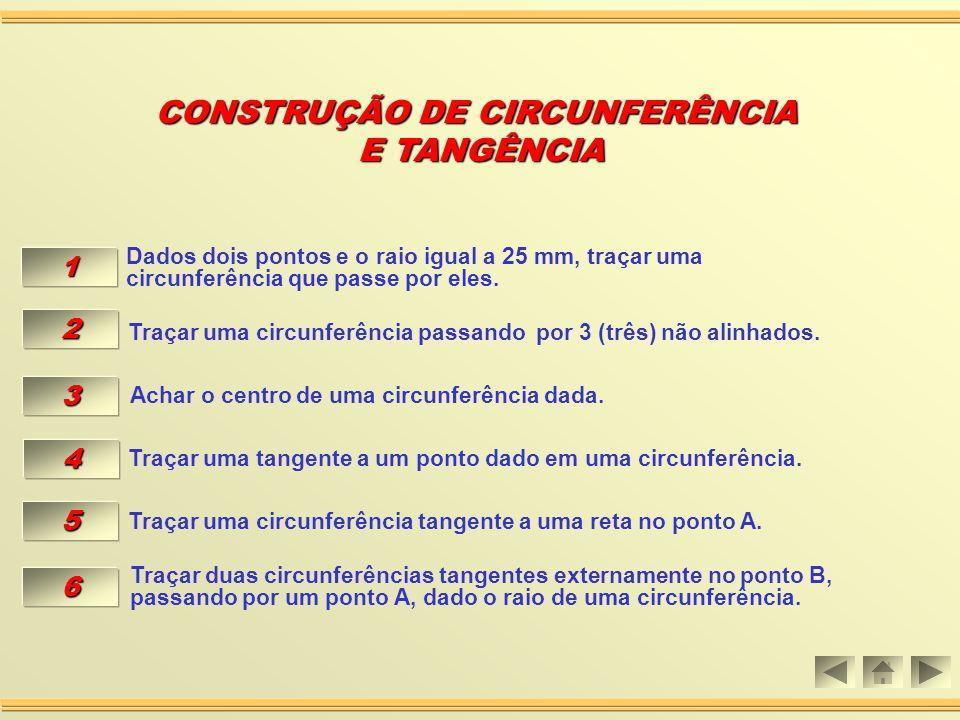 Aula 07 CONSTRUÇÃO DE CIRCUNFERÊCNIA CONSTRUÇÃO DE CIRCUNFERÊCNIA E TANGÊNCIA E TANGÊNCIA