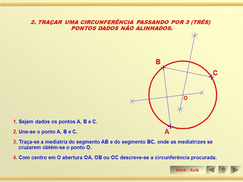 B R A 1.DADOS DOIS PONTOS, TRAÇAR UMA CIRCUNFERÊNCIA DE RAIO IGUAL A 25 mm, QUE PASSE POR ELES 1.