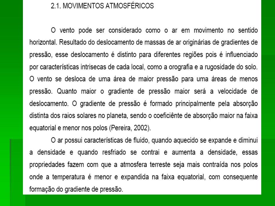 FREQÜÊNCIA HORÁRIA DOS PERÍODOS DE CALMARIA