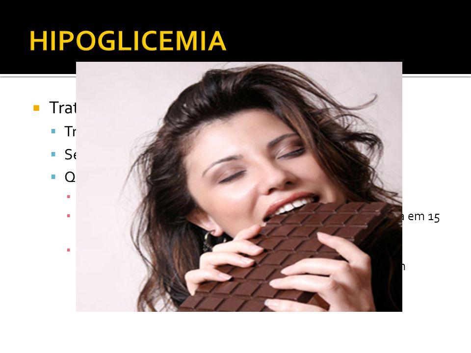 Tratamento Tratar tumor causador Se não for possível: tratar sintomas Quadro agudo Glicose oral ou parenteral Pastas de glicose oral e comp. de glicos