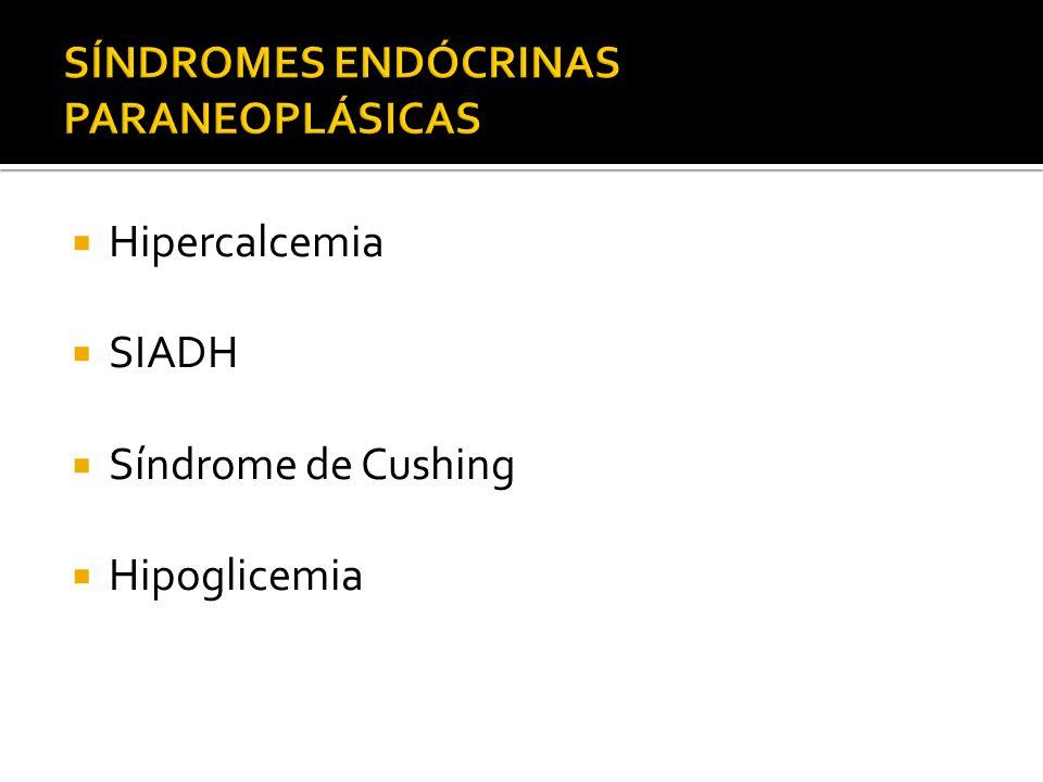 Hipoglicemia associada à tumor ocorre raramente Pode ser causada por tumores de produção de insulina, ou Tumor extrapancreático Podem preceder o diagnóstico Nayar MK, 2006