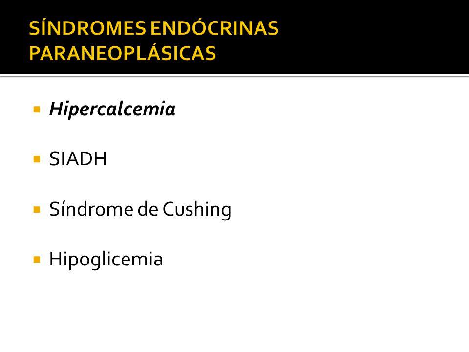 Afeta 1 a 2% de todos pacientes com câncer Principalmente CA pulmonar de pequenas células 10 a 45% destes apresentarão SIADH Etiologia Produção de células tumorais do hormônio antidiurético e peptídeo natriurético atrial Raftopoulos H.