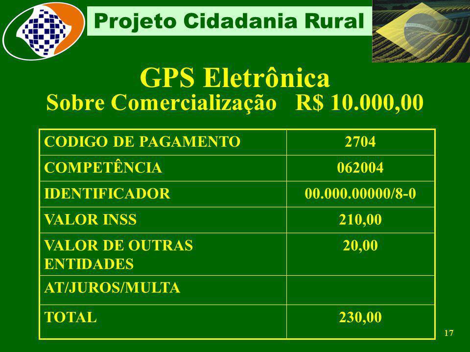 16 Projeto Cidadania Rural Segurado Especial Deveres Promover: Sua inscrição e do grupo familiar respectivo Matricular-se no Cadastro Específico do IN