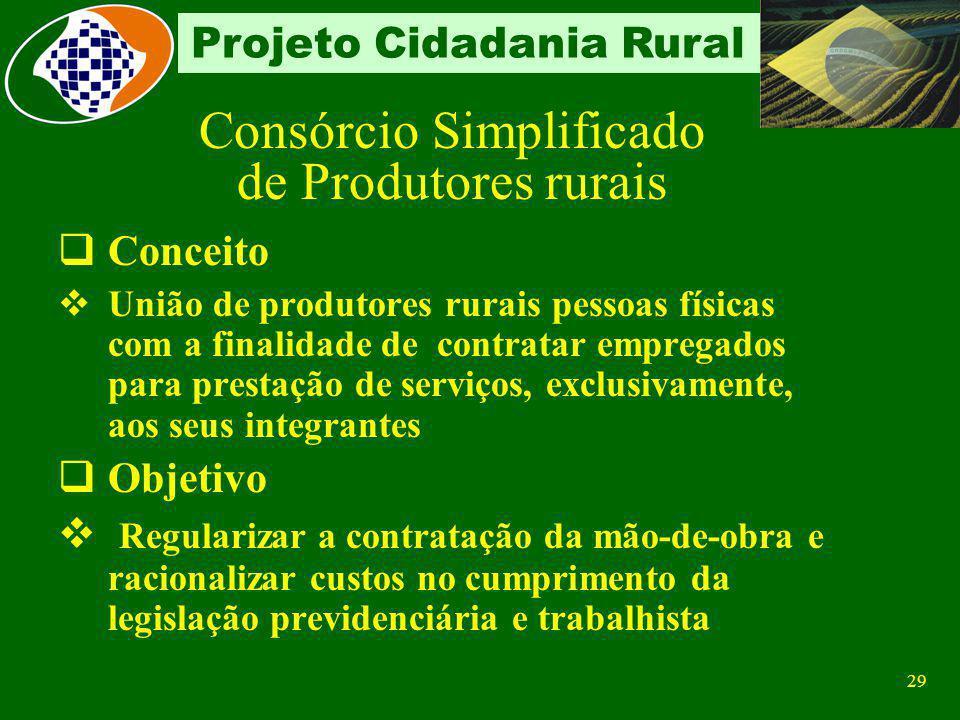 28 Projeto Cidadania Rural GFIP FPAS 604 FPAS 604 Campo CNPJ/CEI - matrícula CEI Campo FPAS - 604 - Produtor rural pessoa física em relação aos empreg