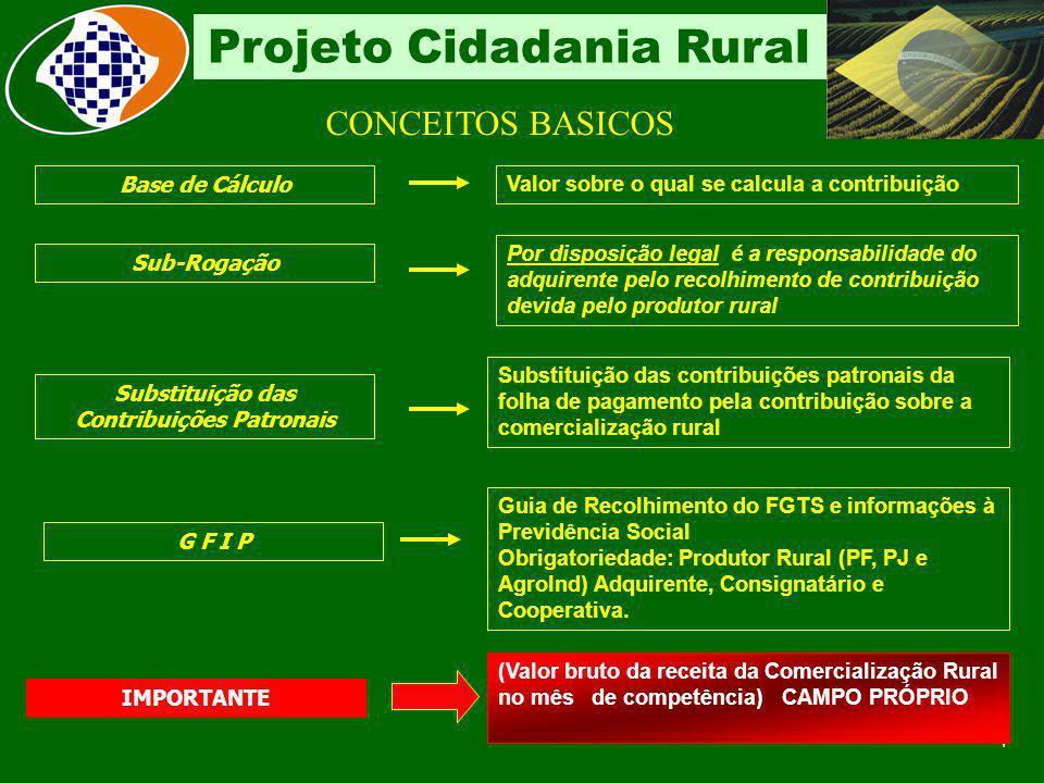 3 Projeto Cidadania Rural Conceito Produtos de origem animal ou vegetal: em estado natural através de processos de beneficiamento (lavagem, descascame