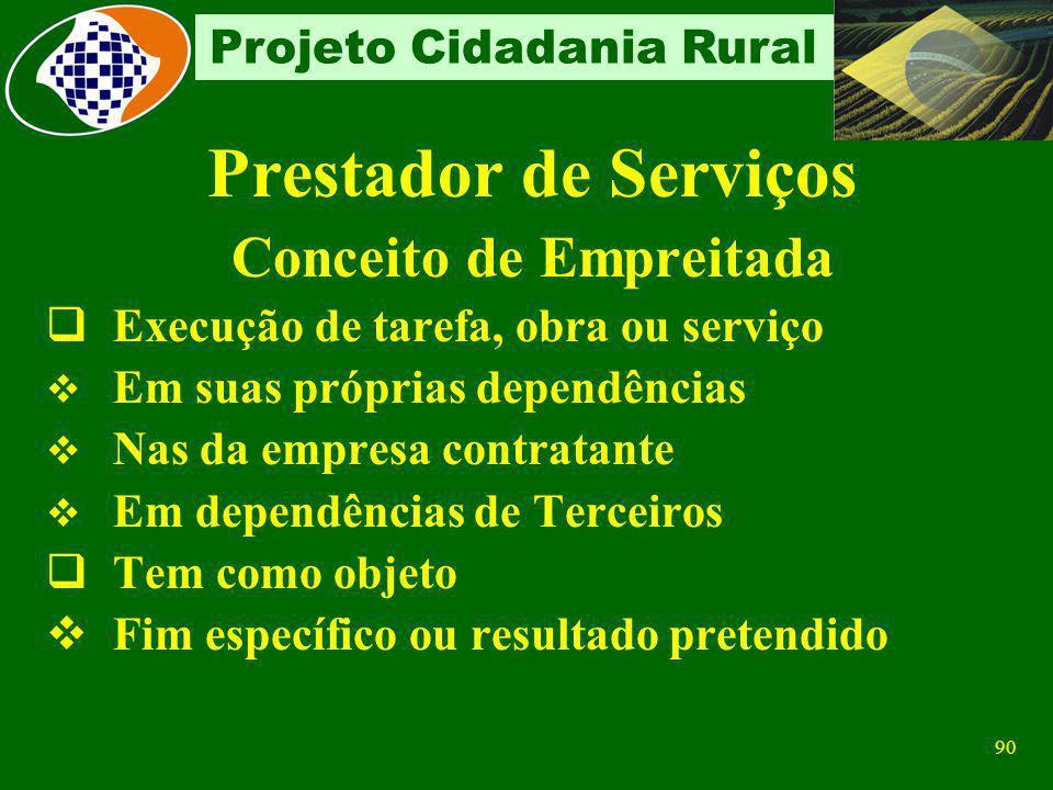 89 Projeto Cidadania Rural Manejo de animais Ordenhamento Ordenhamento Tosquia Tosquia Colocação e reparo de cerca Colocação e reparo de cerca Irrigaç