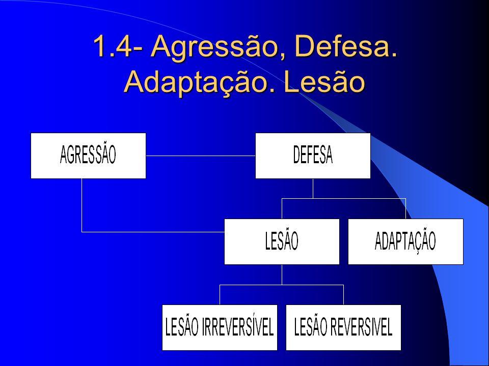 1.4- Agressão, Defesa. Adaptação. Lesão