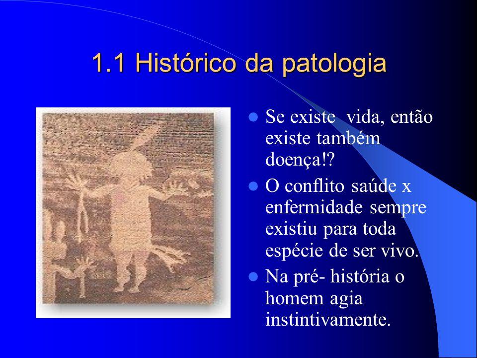1.1 Histórico da patologia Se existe vida, então existe também doença!? O conflito saúde x enfermidade sempre existiu para toda espécie de ser vivo. N