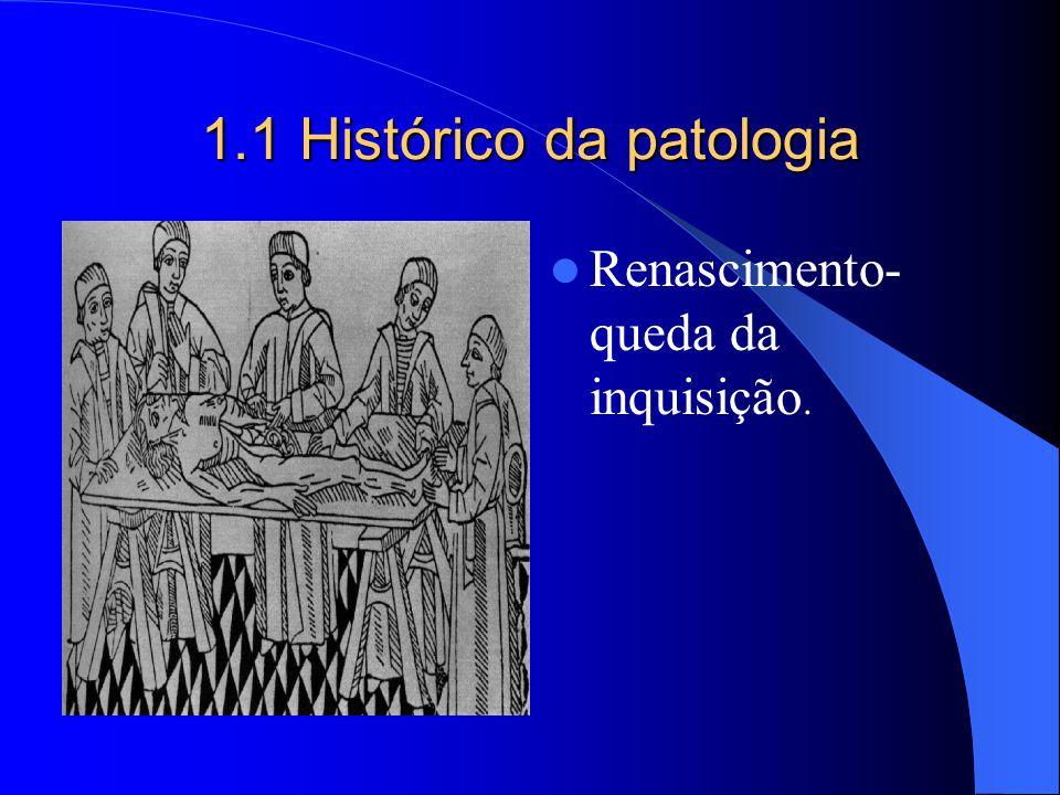 1.1 Histórico da patologia Renascimento- queda da inquisição.