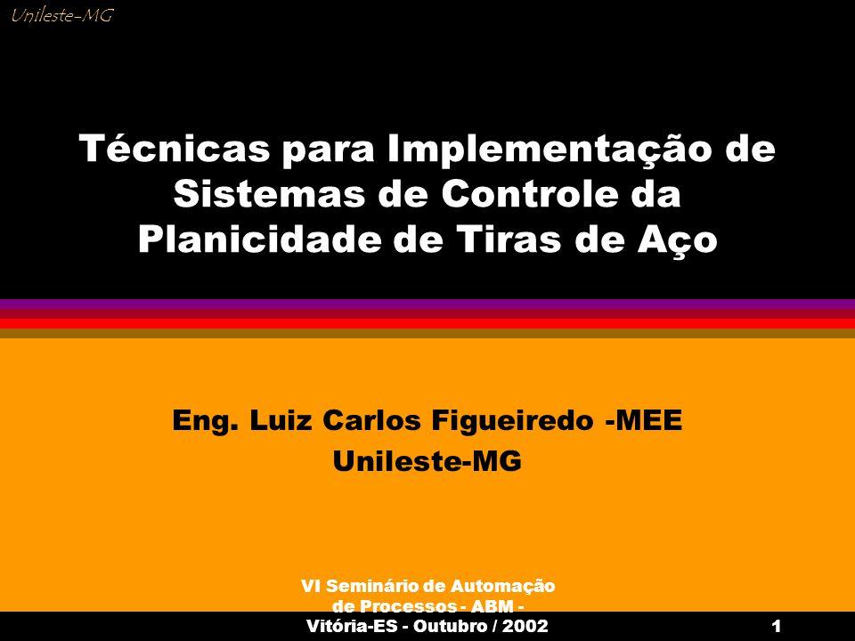 VI Seminário de Automação de Processos - ABM - Vitória-ES - Outubro / 20021 Técnicas para Implementação de Sistemas de Controle da Planicidade de Tira