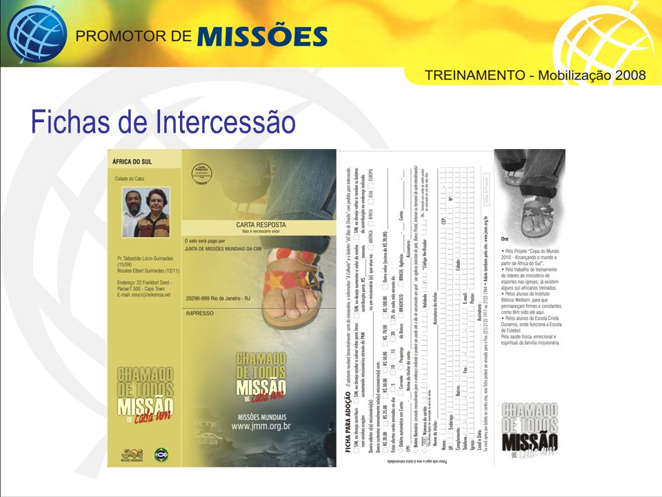 Fichas de Intercessão
