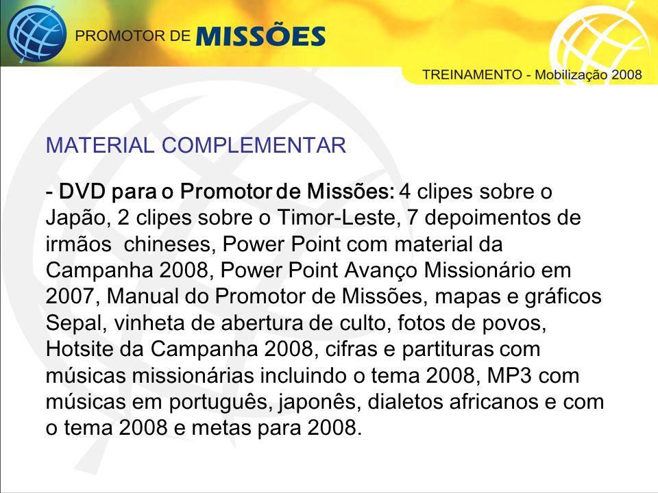 CONGRESSO PROCLAMAI 2008 Conforme definição, serão mantidos os congressos no formato regional, ou seja, um Proclamai em cada região do Brasil.
