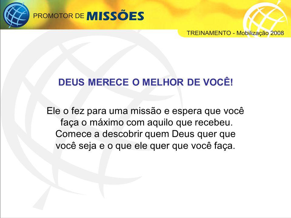 QUEM É O PROMOTOR DE MISSÕES.