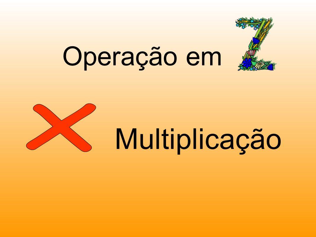 Multiplicação Operação em