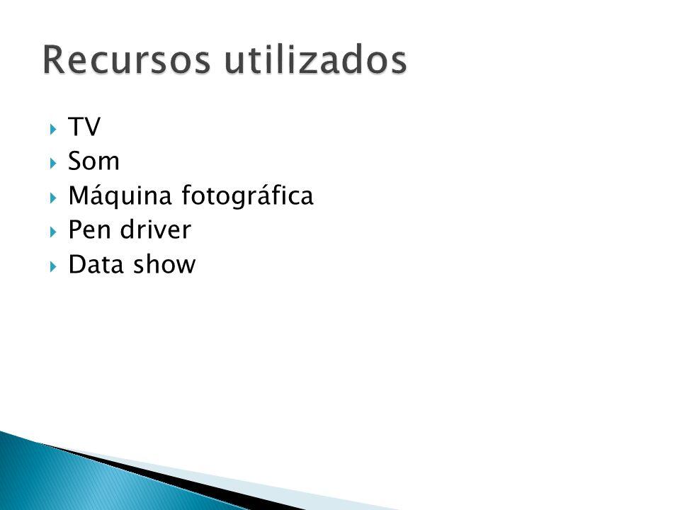 TV Som Máquina fotográfica Pen driver Data show